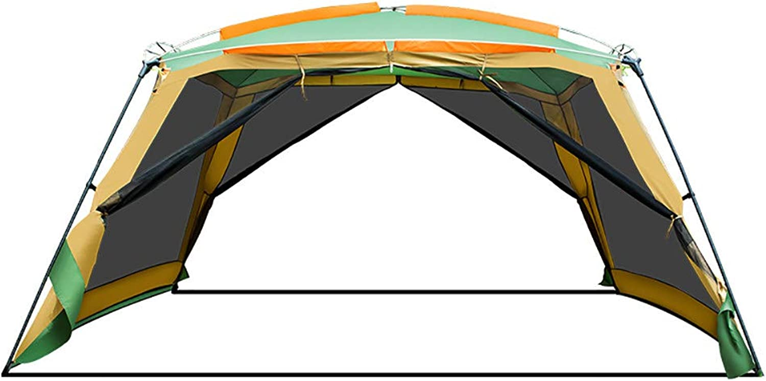 Garden Shade Sail Sun Shelter, Portable Beach Tent, 810 People Large Beach Tent  for Summer Gardens and Barbecues,Green75x25x25cm(11.9x11.9x7ft)