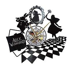 AroundTheTime - Alice in Wonderland Clock - Vinyl Record Wall Clock - Gift Decor