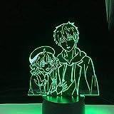 LED 3D Ilusión Lámpara de luz nocturna Modelado de reloj...