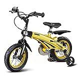 Bicicletta da Bambino Regolabile da 12 Pollici/da 16 Pollici con Ruote di Allenamento e Doppio Freni, Adatto...