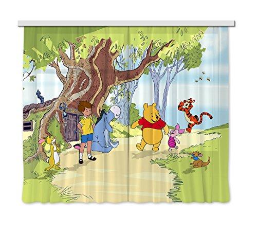 AG Design XXL FCC/4012 Rideau Voilage pour Chambre d'enfant Motif Winnie l'ourson de Disney