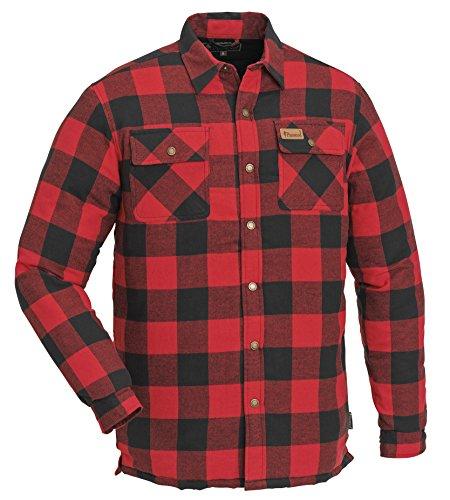 Pinewood Herren Canada Hemd Klassik, Rot, L
