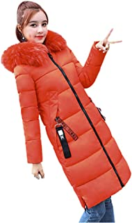 ZEVONDA Winter Coats for Womens - Thicker Long Hooded Long Sleeve Warm Cotton Fluffy Fur Collar Casual Fashion Outdoor Overcoat Ladies Jacket
