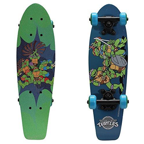 """PlayWheels Teenage Mutant Ninja Turtles 21"""" Wood Cruiser Skateboard, Ninja Power"""