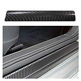 Protector de umbral de coche, 4pcs / Set de fibra de carbono del desgaste del travesaño rasguño anti Umbral coche de la etiqueta Auto Car Styling 3D PU pegatinas 60cmx2 40cmx2 para cualquier coche SUV