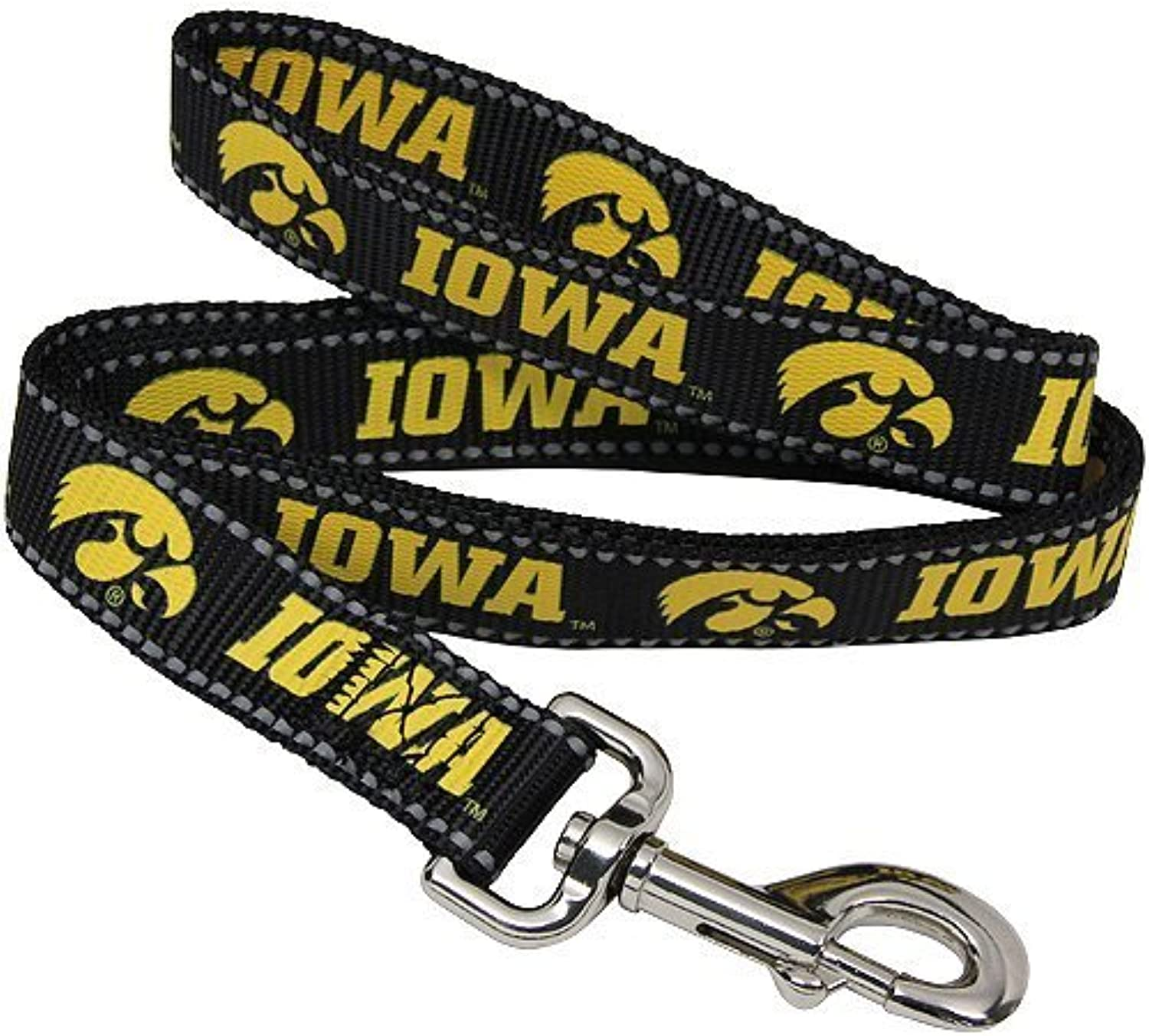 Pet Goods Manufacturing NCAA Iowa Hawkeyes Dog Lead, Large