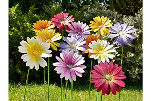 Furniture Checklist Metal Garden Flower Stakes Set Of 12 Multicoloured Garden Decorative Ornaments H58cm x W20cm x D8cm