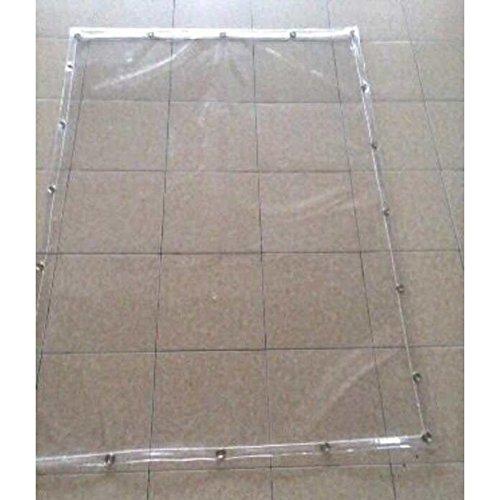 Tentes Outdoors Bâche imperméable en plastique transparent pour extérieur 500 g/m² Taille : 6 x 8 m