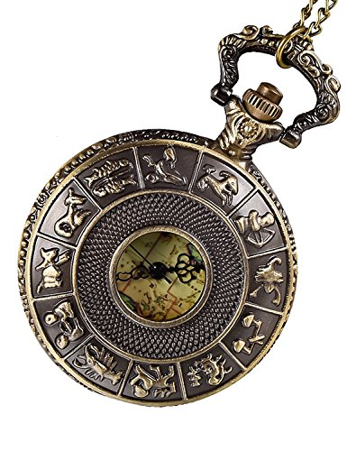 Carrie Hughes Bronze Pendant Watch Antique Constellation and Map Pocket Watch CH200