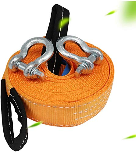 AMDHZ Abschleppen Gürtel, Abschleppseil Heavy Duty 4x4, Nylon Tow Strap, mit 2 Sicherheitshaken, Straßenrettung Abschleppen Seilwinde Strap Kfz-Schleppseil (Size : 6t/5m)