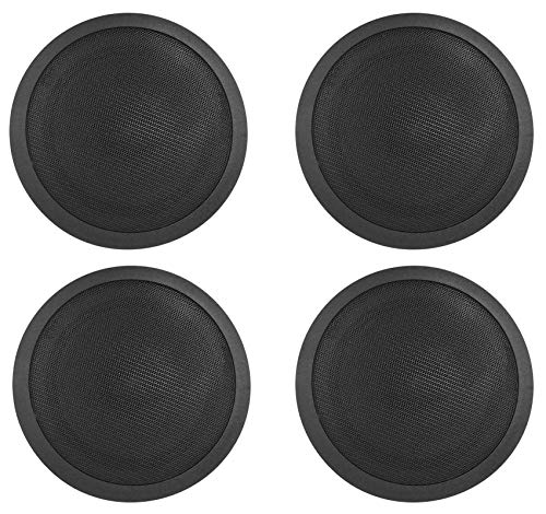 Rockville 70V 6' Commercial Ceiling Speakers 4 Restaurant/Office, (CCL6T BLACK)