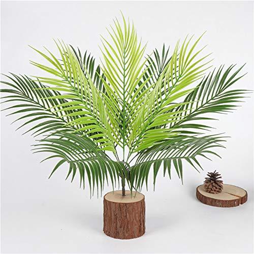 LIDEBLUE Planta artificial de palmera tropical, planta artificial de palma artificial, adorno verde, 9 hojas de arreglo de flores para fiestas y decoración del hogar
