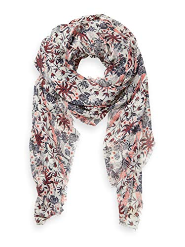 Scotch & Soda Maison Womens Lightweight Printed Fashion Scarf, Combo C-0219, One Size