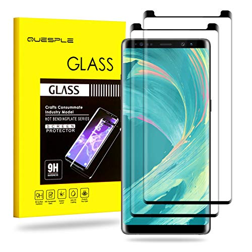 QUESPLE Galaxy Note 8 Screen Protector, 2 Pack Premium Tempered Glass [Bubble Free] [Anti-Scratch] [Case Friendly] 9H Hardness Screen Protector for Samsung Galaxy Note8
