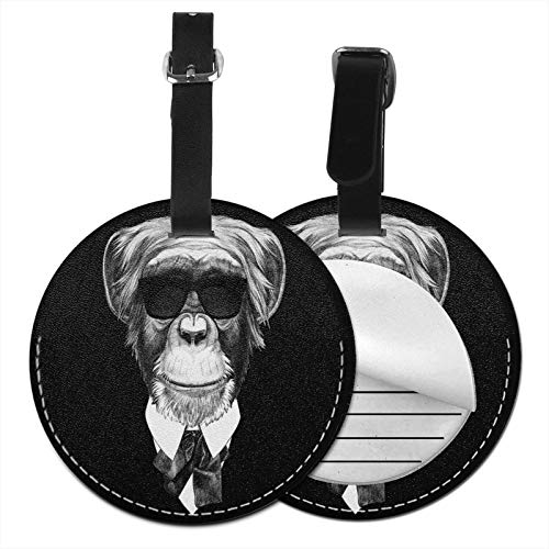 Luggage Tags Monkey Suit Sunglasses Suitcase Luggage Tags Business Card Holder Travel Id Bag Tag