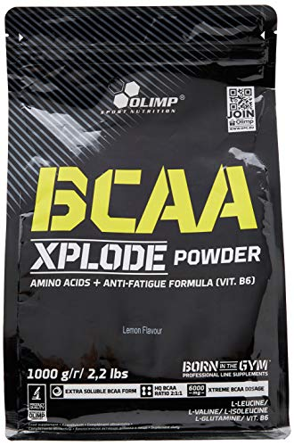 Olimp Labs Lemon BCAA Xplode Recovery and Energy Supplement Powder, 1kg