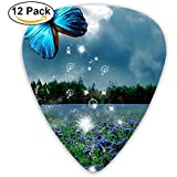 Sherly Yard 12 Pack Custom Guitar Picks Butterfly Wild Scenery Standard Bass Guitarist Music Gifts