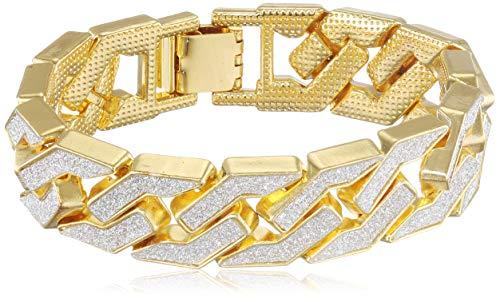 Urban Classics Unisex Glitter Bracelet Kragenknopf, Gold (Gold 00109), Small (Herstellergröße: S/M)