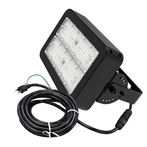 長期保証5年 LED 投光器 100W 16000lm 5m ケーブル コンセント ステンレス 重耐塩 塩害 耐塩 業務用 作業灯 防水 led投光器 水銀灯 400W 相当 工事不要 昼白色