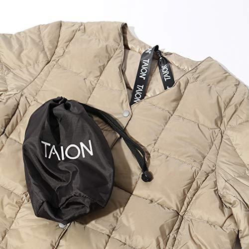 (タイオン)TAIONVネックロングダウンコート[TAION-W101-LONG]カーキM