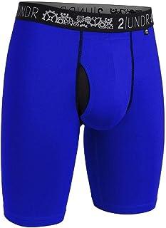 Mens Gearshift Performance Long Leg Boxer Briefs (Blue Ski(15), Medium)