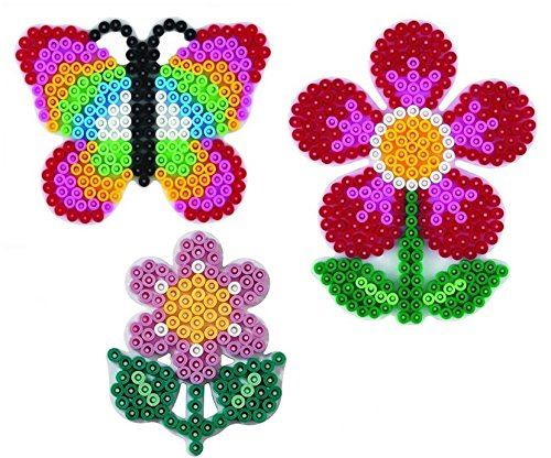 Hama Midi Stiftplattenbeutel kleine Blume ,Schmetterling und Blume - im Blister Beutel