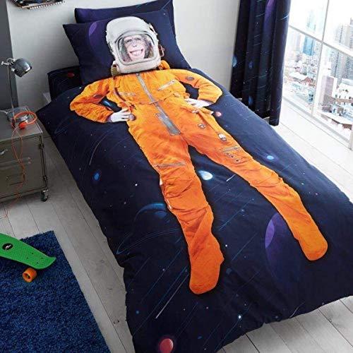 Space Chimp Single Duvet Cover and Pillowcase Set