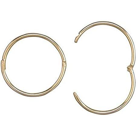 Sleeping earrings 15 mm gold bag 10 pieces