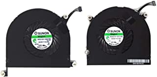"""Willhom Laptop CPU Cooling Cooler Fan Left Right Replacement for MacBook Pro 17"""" A1297 2009 2010 2011 MB604 MC226 MC024 MC..."""