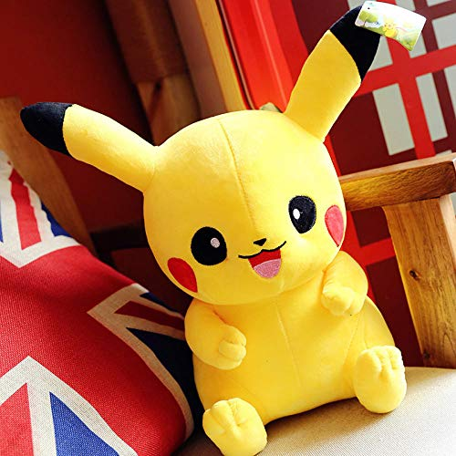 Recordever Knuffel Pikachu Kussen Voor Vriendin Kind Verjaardagscadeau-geel _40cm