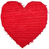 Corazón de piñata, 8 x 40 x 40 cm, para rellenar con dulces y confeti, cumpleaños infantiles