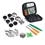 RGEEK Elite Kit for Xbox One Elite Controller Accessory (6 Different Metal Analog Sticks, 4 Paddles and 2 D-Pads, 2 Magnetic Base, T8 T6 Torx ScrewdriverRepair Kits Parts