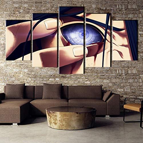 COCOCI Lienzo 5 Piezas Uchiha Naru Decoracion Painting Lienzos Decorativos Cuadros Grandes Baratos Cuadros Decoracion Cuadros para Dormitorios Modernos Cuadros Decoracion Regalos Personalizados