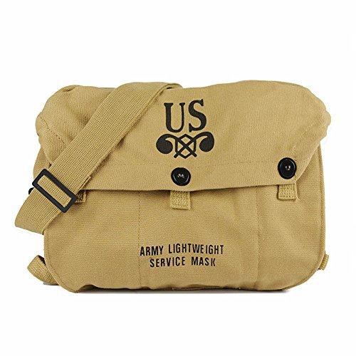 SMONT WW2 US Repro Army, leicht, M6 Gasmaske, Tragetasche, Messenger Pack