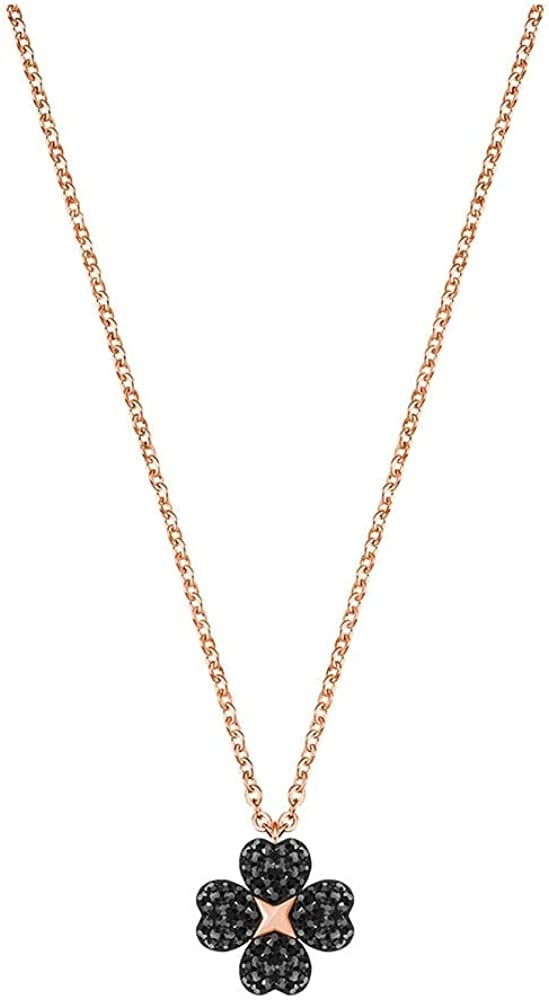 Collana placcata oro rosa con pendente di swarovski da donna della collezione latisha flower.