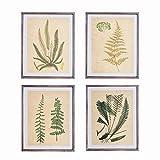 NIKKY HOME 11' x 14' Vintage Wood Framed Botanical Wall Art Prints Set of 4