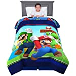 "Franco Kids Bedding Soft Microfiber Comforter, Twin Size 64"" x 86"", Super Mario"