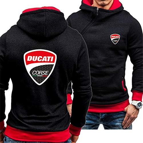 Herren Sweatshirt Kapuze Jacke Reißverschluss Winterdicke Warme Outwear Mäntel Lässig Plus Size Hoodie Sweatshirt Pullover Ducati Baseball Uniform,X002,XL