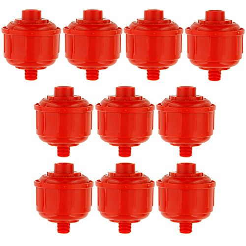 """TCP Global (10-Pack Disposable Mini Air/Water Filters Only Standard 1/4"""" Threads, Fits Most Spray Guns and Air Tools"""