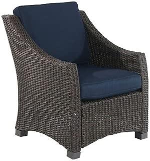 Belvedere Wicker/Steel Club Chair - Navy
