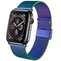 コンパチブル Apple Watch バンド 38mm 40mm アップルウォッチバンド 42mm 44mm ループ ステンレス留め金製 iwatch series6/5/4/3/2/1/SEに対応 磁石 軽量モデル