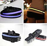 Shadow Securitronics Sports LED Glow Safety Arm-Leg Reflective Band for Running/Cycling/Night/Outdoor Activities Adjustable
