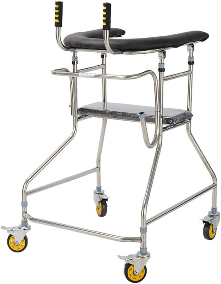 Wheeled Walker security Standing Walk Stand for Str Frame 55% OFF Aid