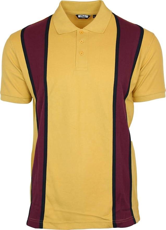 1960s Mens Shirts | 60s Mod Shirts, Hippie Shirts Relco Mens Striped Pique Polo Cotton Shirt Retro Vintage 60s 70s  AT vintagedancer.com