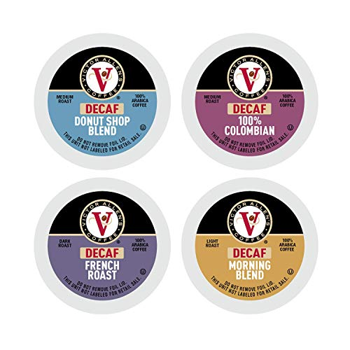 Victor Allen's Coffee Decaf Variety Pack, 54 Count, Single Serve Coffee Pods for Keurig K-Cup Brewers