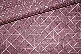 Baumwollstoff grafisches Muster Altrosa | 15,20 €/m |