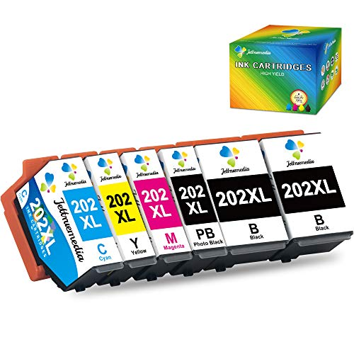 202XL Cartuchos de Tinta para Epson 202 XL Compatible con Epson Expression Premium XP 6000 XP 6005 XP-6100 XP-6105 XP-6000 XP-6005 (Pack de 6)