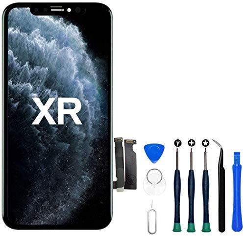 Hoonyer Display für iPhone XR LCD 3D Touch Digital Bildschirm Rahmen Glasbildschirm Demontage Kit Transformation Komplette Ersatzwerkzeuge enthalten