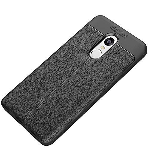 Tianqin Xiaomi Redmi Note4X Funda, Ultra Ligero Case Amortiguaci¨®n Rugged Silicona Ultra Delgado Cubierta Protectora Fibra Carbono Caso para Xiaomi Redmi Note4X Case - Negro