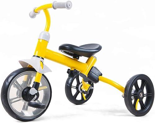 YUMEIGE Véhicules pour Enfants Poids de la Charge de Tricycle pour Enfants 25 kg Enfant Tricycle avec Frein Double Enfants poussettes Anti Pneu crevé pour 3-5 Ans Cadeau d'anniversaire Enfants